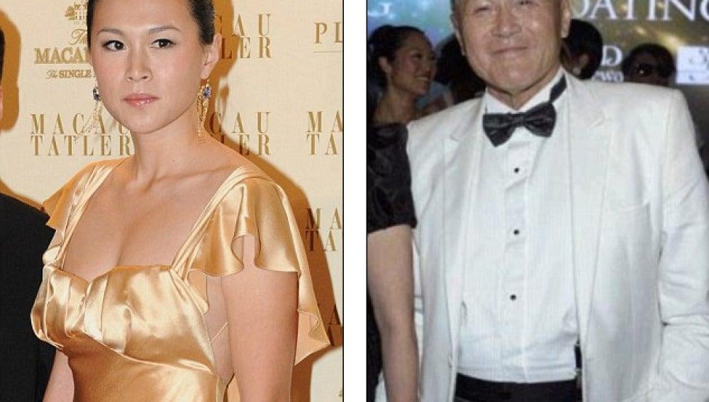 Gigi y su padre, el millonario Cecil Chao Sze-tsung