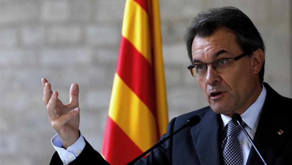 Artur Mas, en la sede de la Generalitat