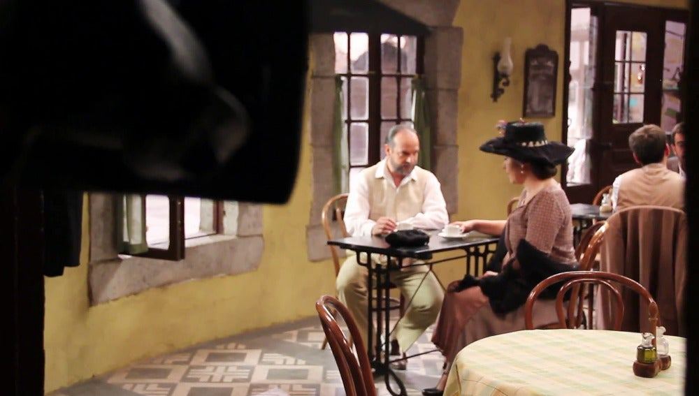 Making of del acercamiento entre Raimundo y Francisca