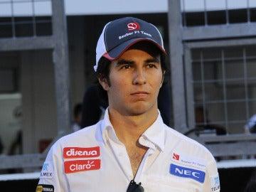 Sergio Pérez en el circuito de Suzuka