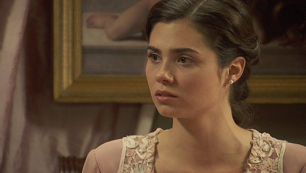 María quiere confesarse con Gonzalo