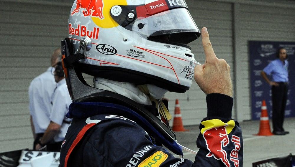 Vettel, tras lograr la pole en Japón