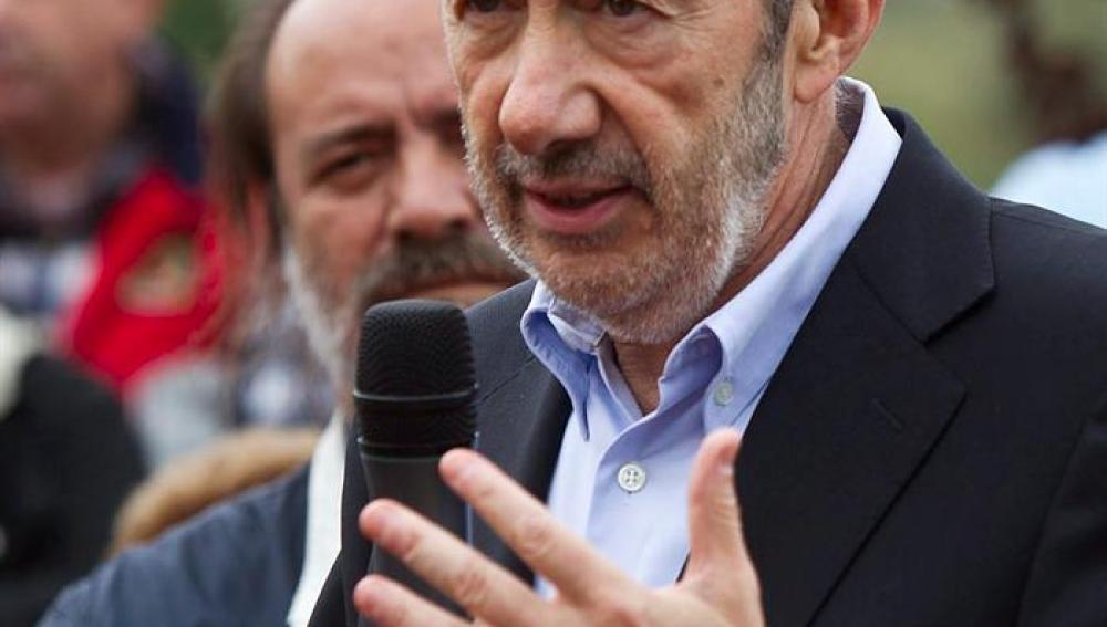 Rubalcaba, en un acto electoral en Galicia