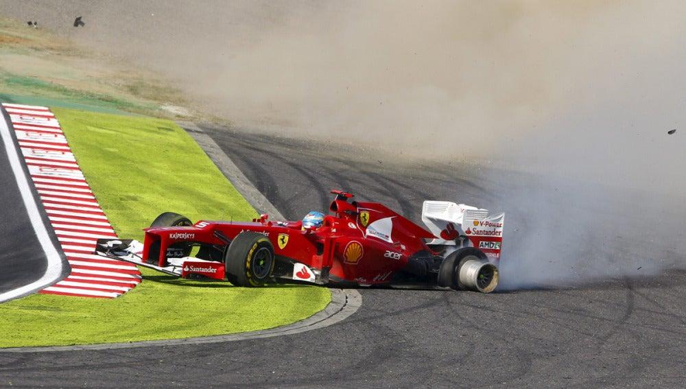 El trompo de Alonso en Suzuka