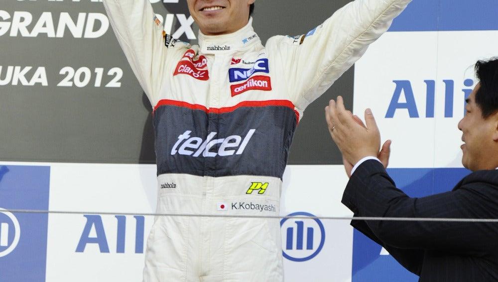 Kobayashi, tercero en Japón