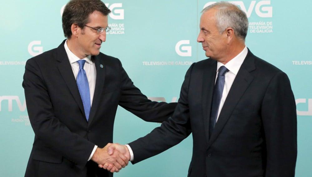 Feijóo y Vázquez, antes del debate