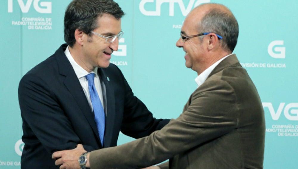 Núñez Feijóo junto a Jorquera en el tercer debate