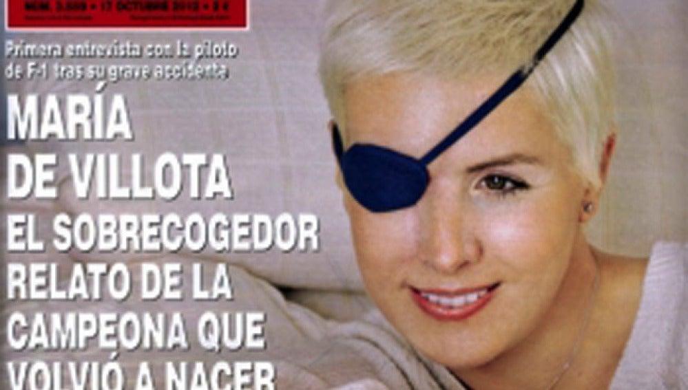 María de Villota reaparece en la revista ¡Hola!.