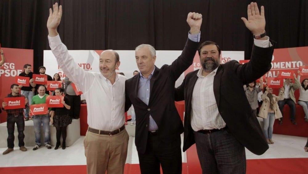 Rubalcaba acompaña a Pachi Vázquez en un acto en A Coruña