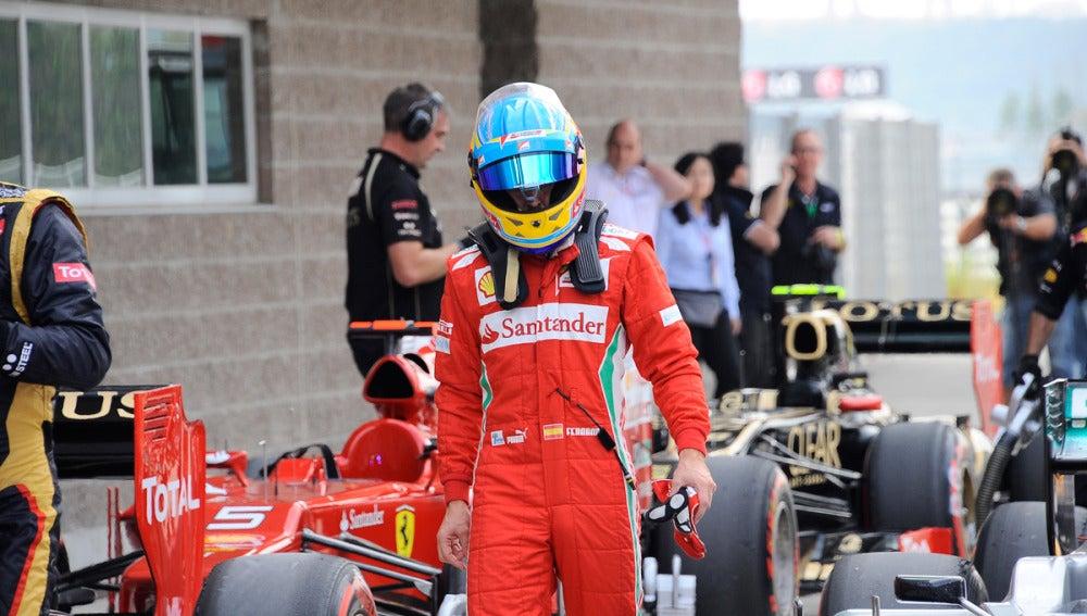 Fernando Alonso, tras la clasificación del GP de Corea