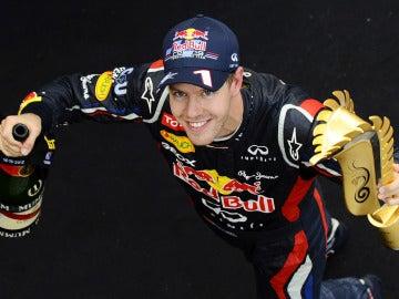 Vettel, tras su triunfo en Corea