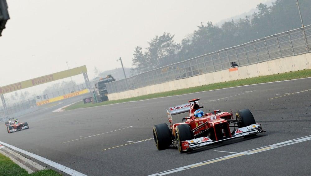 Fernando Alonso, en el trazado de Yeongam