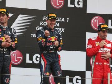El podio del GP de Corea