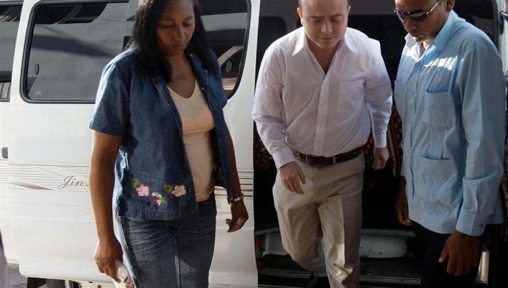 Ángel Carromero llegando al tribunal el 5 de octubre