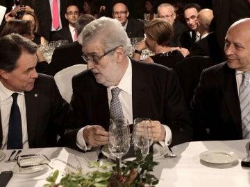 José Ignacio Wert, Artur Mas y José Manuel Lara