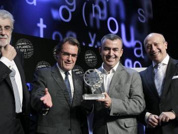 Lorenzo Silva, junto a Mas, Lara y Wert