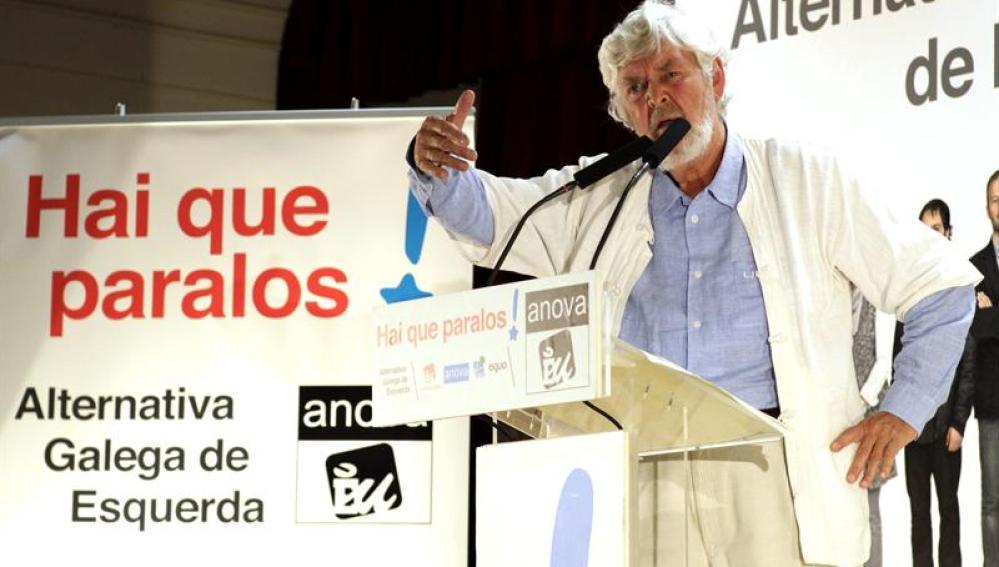 El candidato de Alternativa Galega de Esquerda a la presidencia de la Xunta, Xosé Manuel Beiras