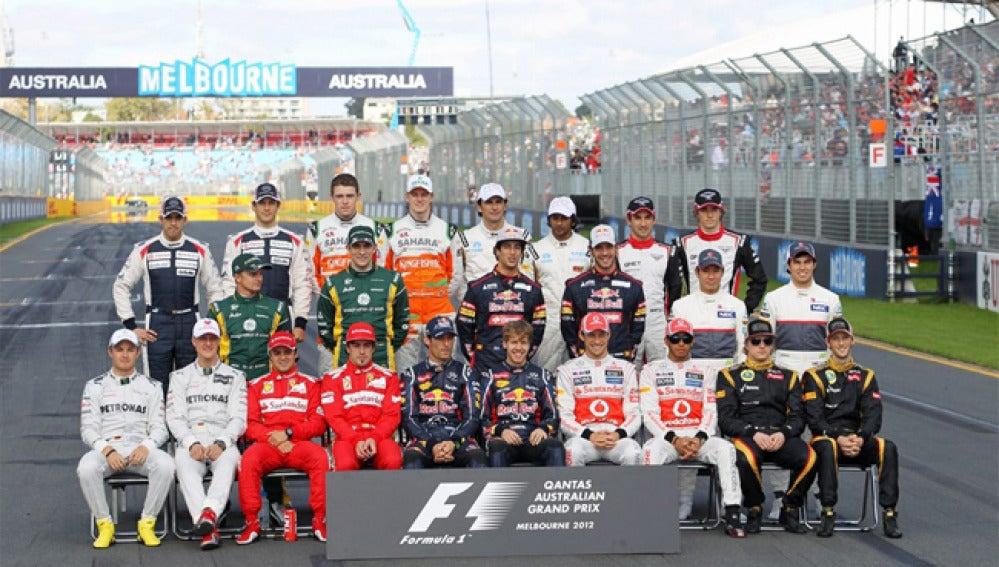 Parrilla de pilotos del Mundial de Fórmula 1 de 2012.