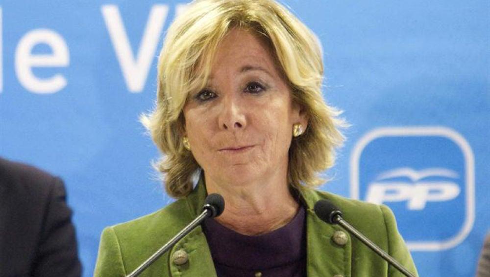 Esperanza Aguirre, en Galicia