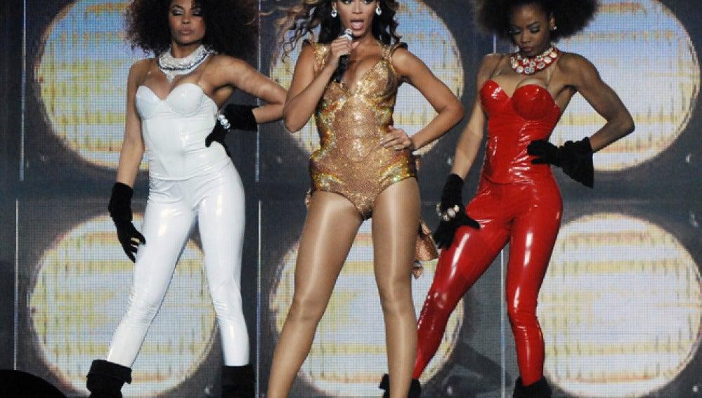 Beyonce durante un concierto.