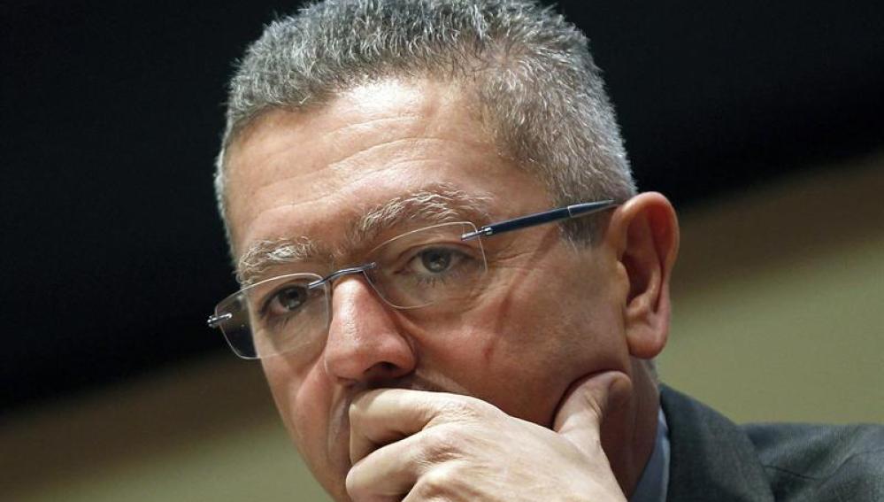 El ministro de Justicia, Alberto Ruiz Gallardón, durante el acto de clausura del Congreso