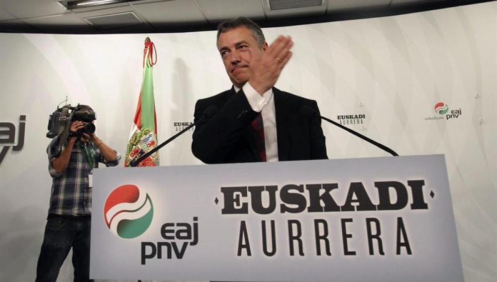 Iñigo Urkullu, tras conocer su victoria en las elecciones