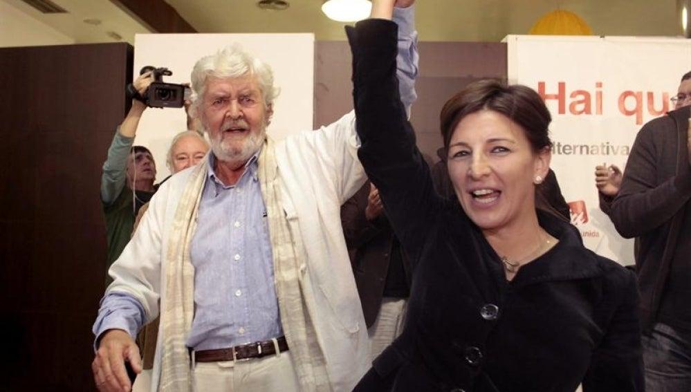 El candidato de Alternativa Galega de Esquerda (AGE) a la Presidencia de la Xunta, Xosé Manuel Beiras