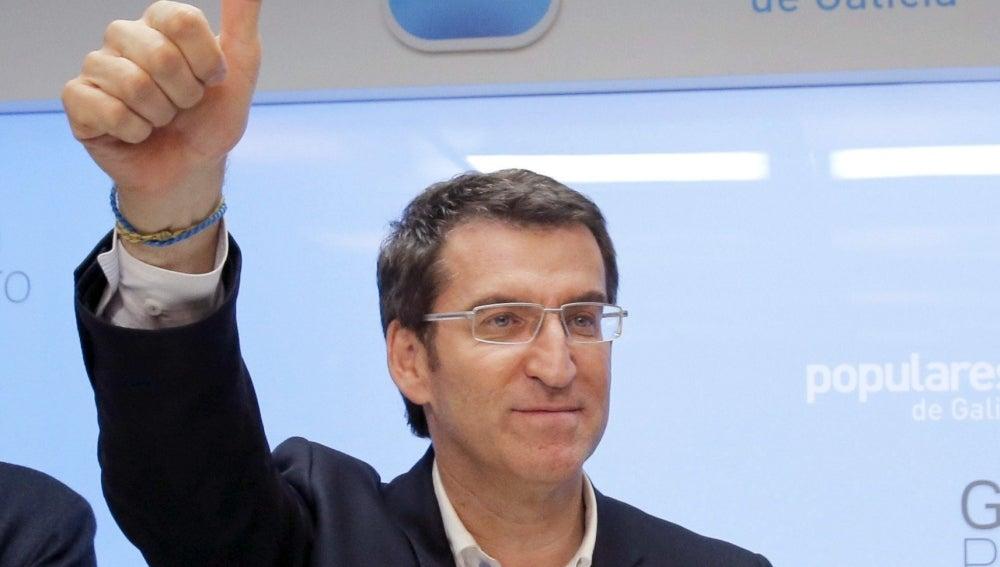 El presidente de la Xunta, y candidato a la reelección por el PP, Alberto Núñez Feijóo