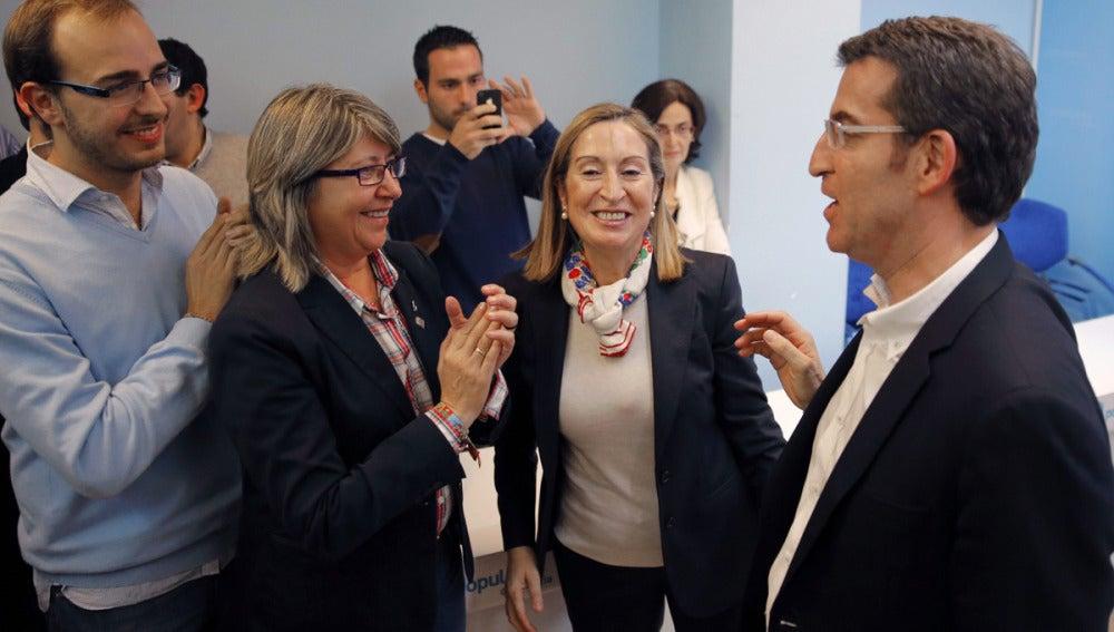 Feijóo celebra la victoria electoral en Galicia