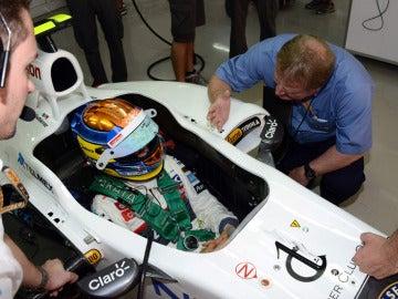 Esteban Gutiérrez, en el Sauber