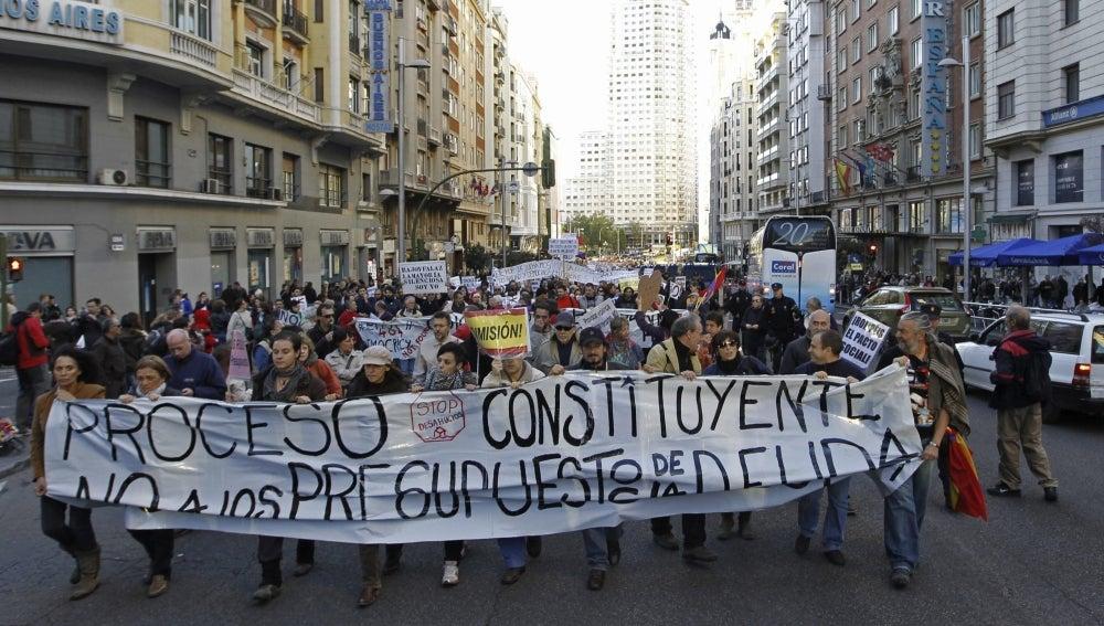 Protestas del 25-S contra los PGE