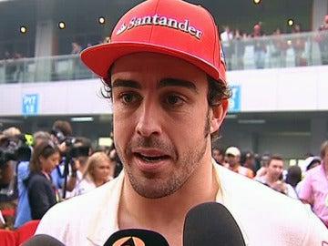 Alonso, tras la carrera de Buddh