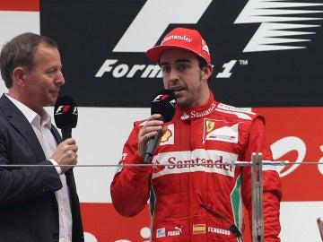 Alonso en el podio