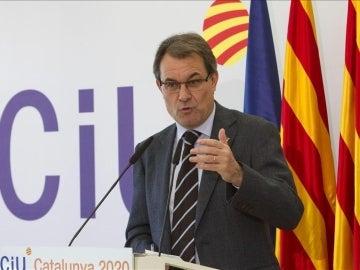 Artur Mas en un acto en el en el Moll de Llevant de Barcelona