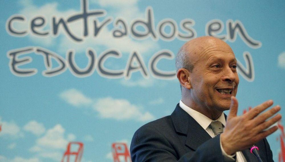 José Ignacio Wert, ministro de Educación, Cultura y Deporte