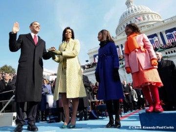 Obama jura el cargo en el Capitolio
