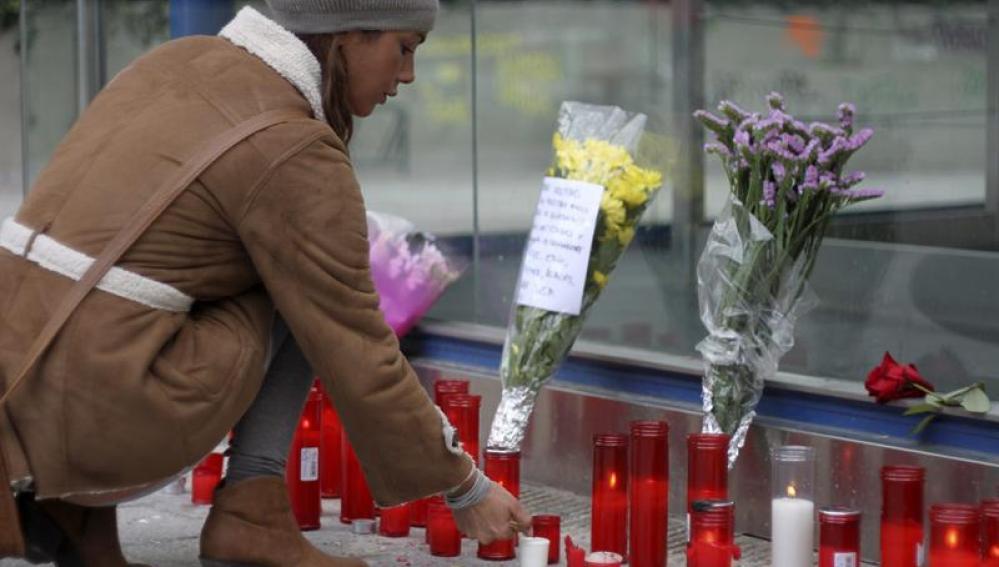 Homenaje a las víctimas en el Madrid Arena