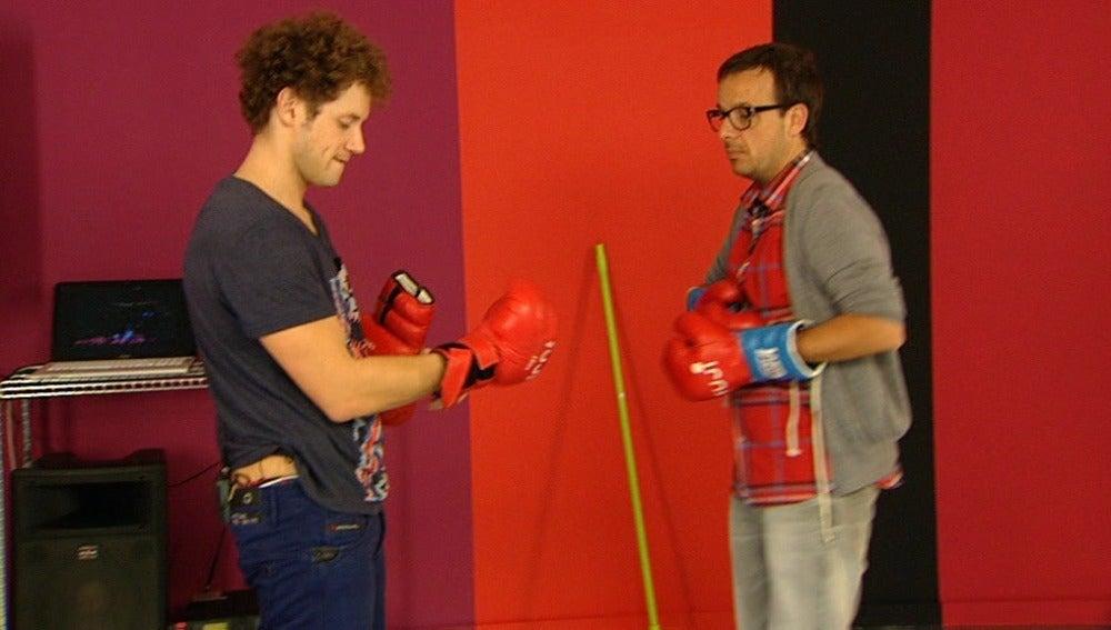 Daniel Diges aprende a boxear