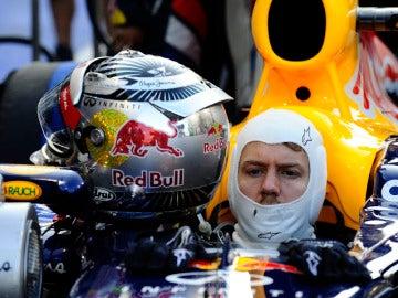 Sebastian Vettel en Yas Marina