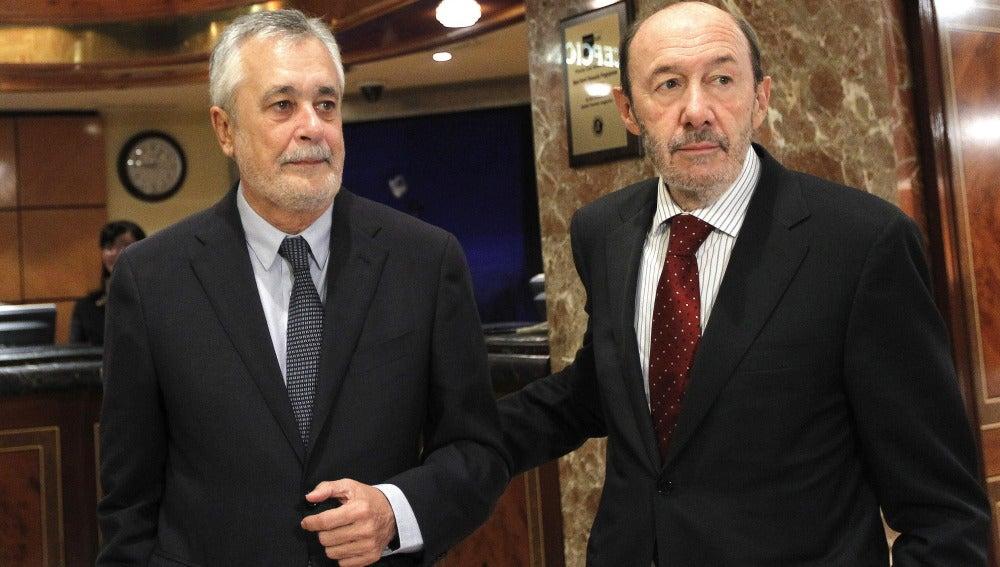 José Antonio Griñán y Alfredo Pérez Rubalcaba