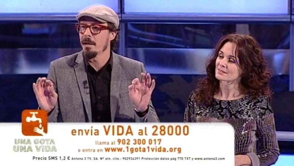 Fele Martínez y Silvia Marsó en Atrapa un millón