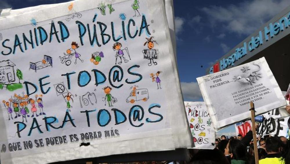 Movilizaciones en la sanidad pública