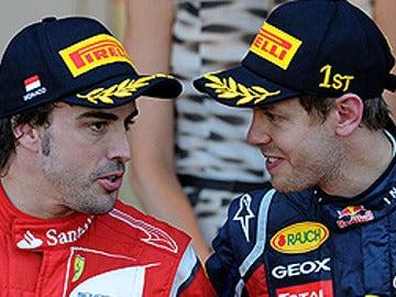 Alonso y Vettel, juntos