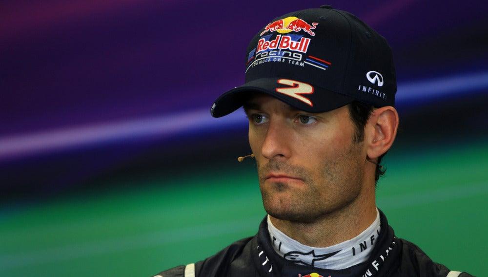 Webber comparece en rueda de prensa