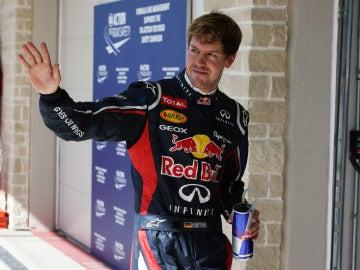 Vettel saluda en Austin