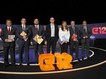Debate electoral en Cataluña