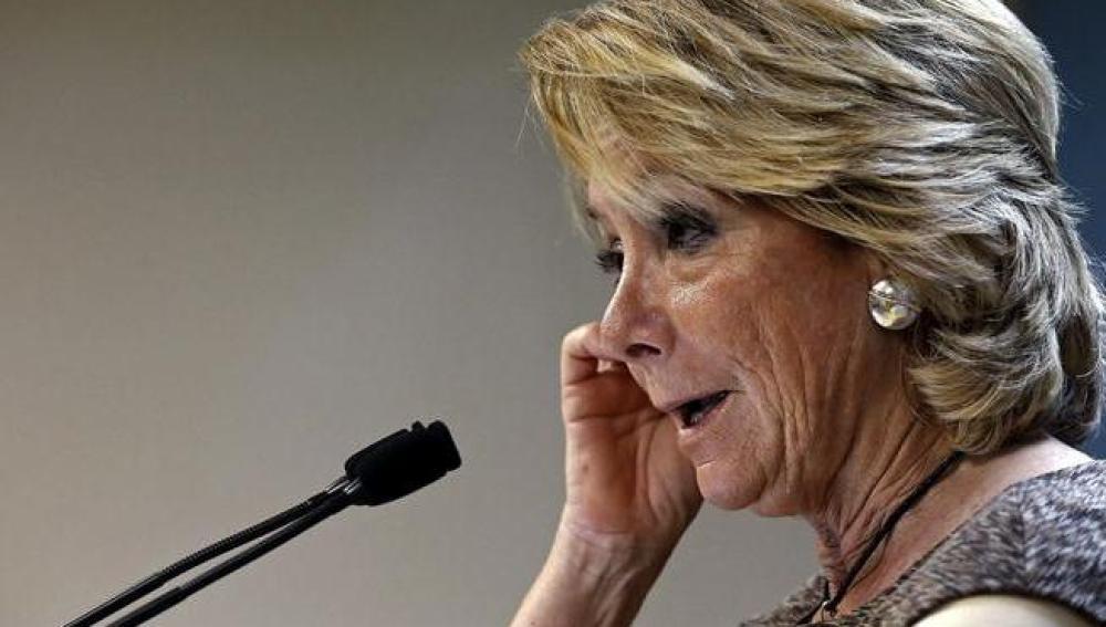 Esperanza Aguirre, tras presidir el comité de dirección del PP madrileño