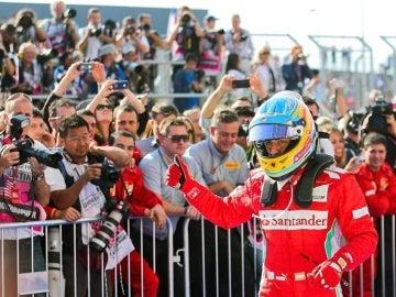 Fernando Alonso tras la carrera de Austin