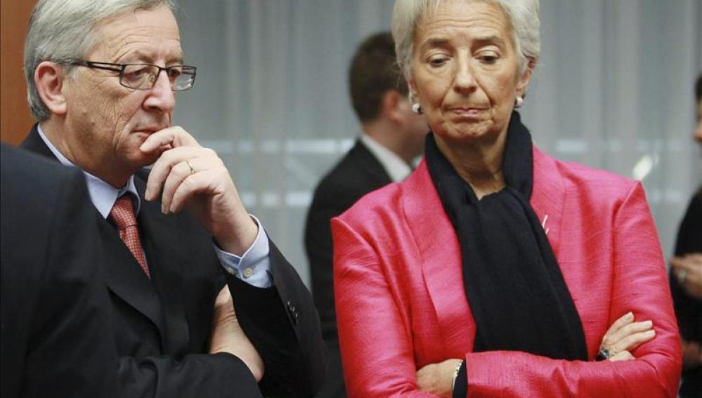 Jean Claude Juncker y Christine Lagarde