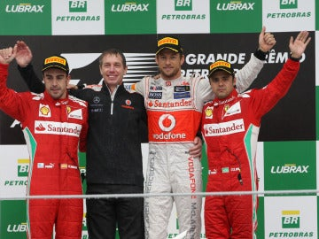 El podio de Brasil